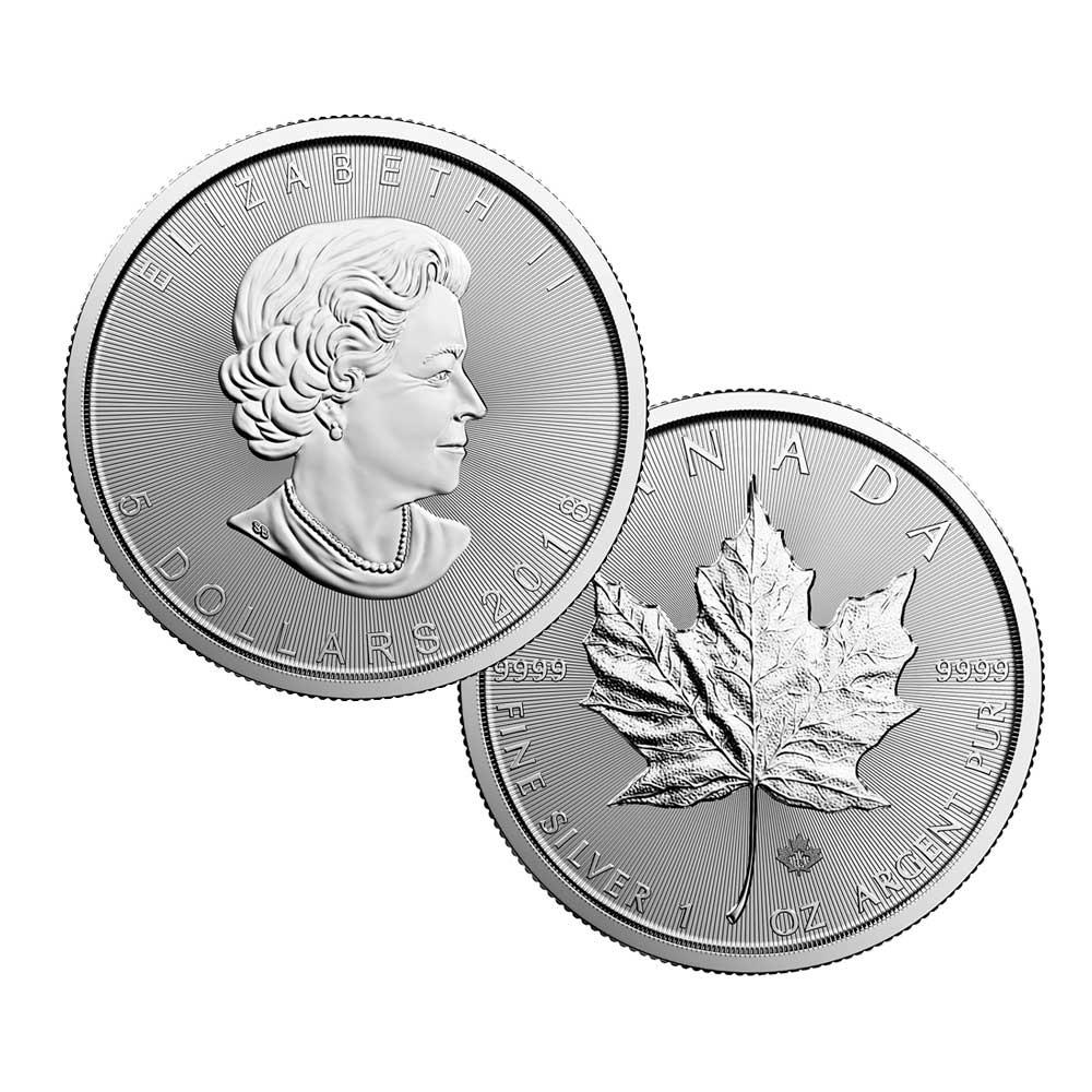Silver CA Leaf Coin